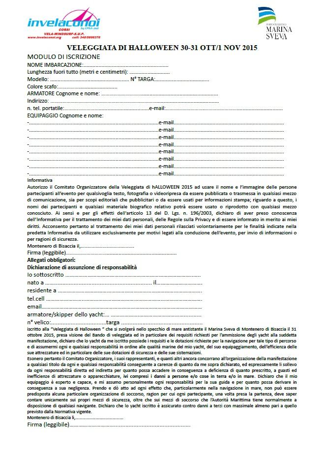 modulo iscrizione sito